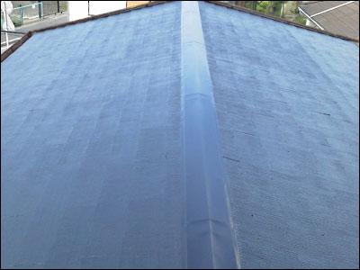 千葉市花見川区|屋根塗装と錆の発生した棟板金を交換