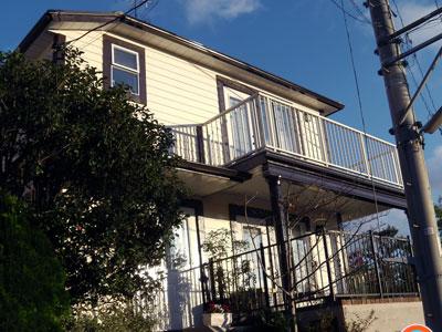 横浜市中区 外壁塗装 クリーンマイルドシリコン 屋根カバー 横暖ルーフきわみ