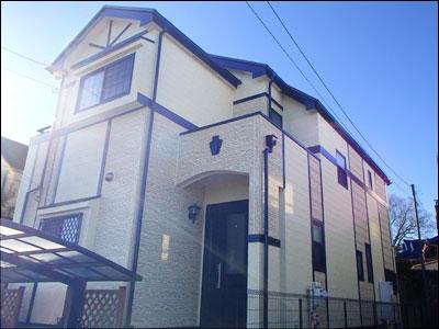 千葉県我孫子市|模様を活かした外壁塗装と屋根塗装、ベランダ防水工事