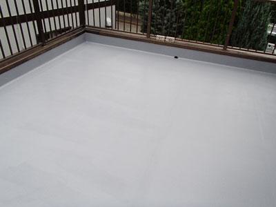 ベランダの雨漏り補修 シート防水からFRP防水へ|千葉県千葉市花見川区