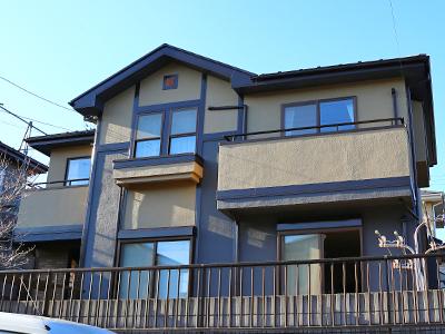 千葉県印旛郡酒々井町 外壁は超低汚染性塗料で屋根は遮熱塗料 更にバルコニー防水工事