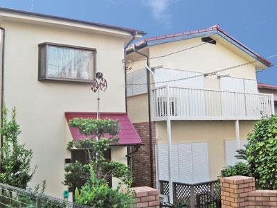 横浜市中区|2世帯住宅の屋根塗装・外壁塗装、強風被害による棟板金の交換工事