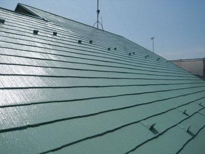 スレート屋根の自然劣化を屋根塗装で補修 遮熱塗料アレスクール使用|東京都町田市