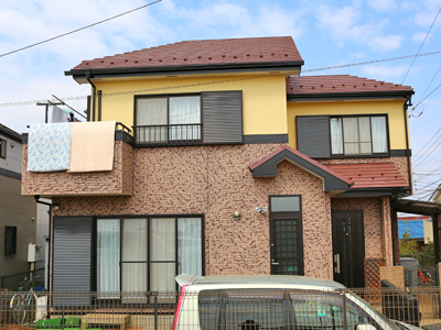 千葉県習志野市津田沼駅 低汚染塗料で外壁塗装&遮熱塗料で屋根塗装