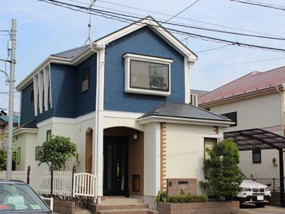 屋根塗装は遮熱塗料、外壁塗装は低汚染塗料で塗り替え|東京都立川市