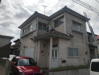 外壁塗装前のお家