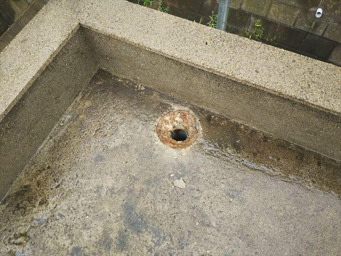 排水口の劣化確認