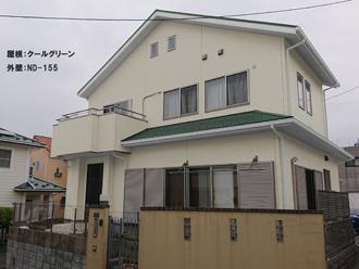 屋根:クールグリーン-外壁:ND-155