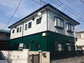 横浜市鶴見区 コーポ アパート 屋根外壁塗装