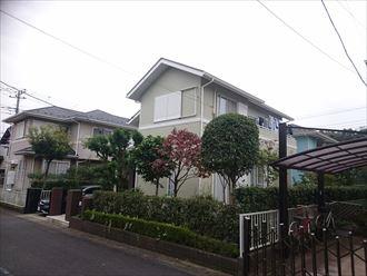 佐倉市でモルタル外壁の塗膜膨れを修復しながら艶消し仕上げで外壁屋根塗装、落ち着いた雰囲気に満足頂きました