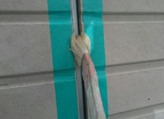 シーリングの充填前にプライマー塗布