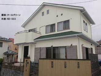 屋根:クールグリーン-外壁:ND-503