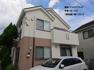 屋根:シェイドブラック-外壁:ND-155-1階色違い部:T5014