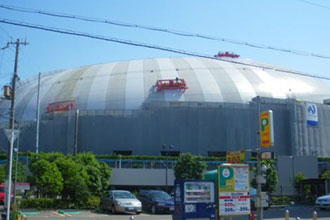 ダイヤスーパーセランアクアで塗装された大阪門真のなみはやドーム