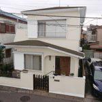 屋根:Sシェイドブラウン(スーパーガルテクト) 外壁:ND-503 付帯部:白