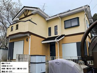 屋根:ブラック-付帯部:ND-010-外壁:1階-ND-281 2階-ND-250-幕板:ND-255
