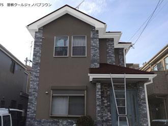①外壁ND-375 屋根クールジェノバブラウン