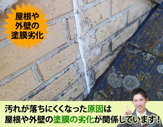 屋根や外壁の塗膜劣化