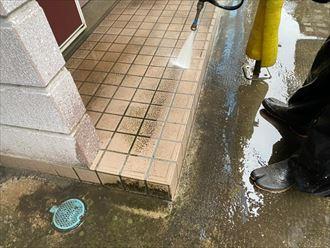 千葉市稲毛区 玄関ポーチ洗浄