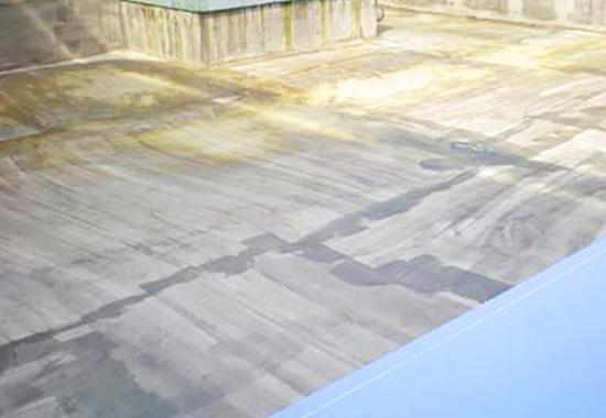 下地処理を施したシート防水