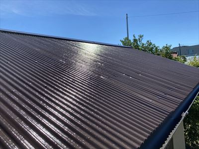 屋根塗装後のトタン