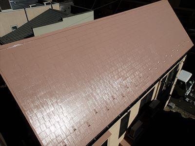 クールビンテージローズでの屋根塗装