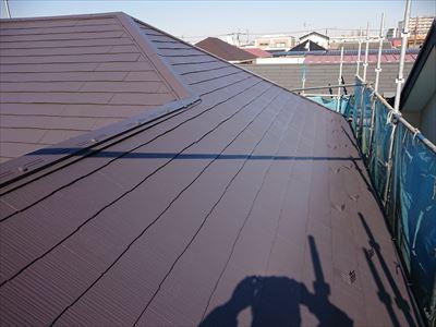 サーモアイでの屋根塗装工事