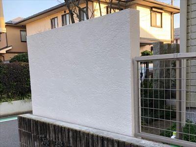 塀塗装完了後