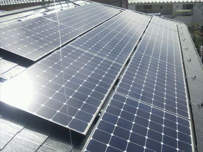 太陽光パネル設置後のスレート