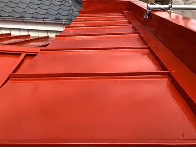 パラペットの屋根塗装