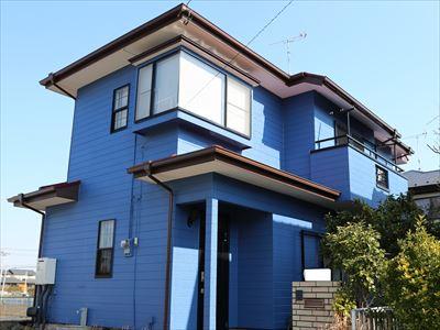 長生郡白子町中里で屋根外壁塗装工事完了