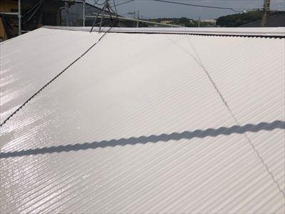 トタン屋根の塗装完了