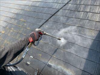 松戸市新松戸 屋根の洗浄