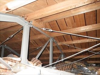 旭区|スレート屋根塗装工事が着工中です