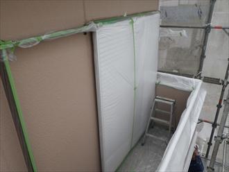 南区 塗装工事と一緒にバルコニートップコート