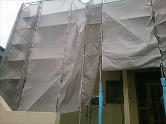 千葉県富里市|ニッペ、パーフェクトトップで外壁塗装スタート