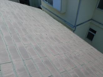 平塚市|屋根と化粧柱の塗装工事