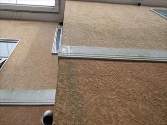 横浜市戸塚区で屋根葺き替えと一緒に外壁も塗装しています