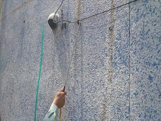 横浜市中区でバルコニー防水工事が着工しました