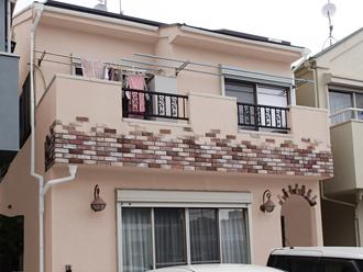 海老名市 屋根塗装 外壁塗装 カラーシミュレーション 薄ピンク系