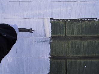 富里市屋根外壁塗装、塗装下塗り002