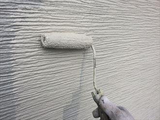 市原市屋根外壁塗装、中上塗り003
