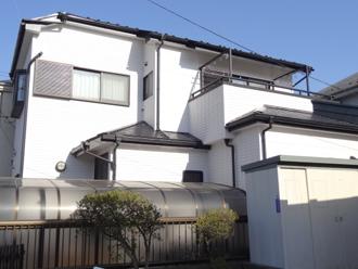 千葉市美浜区 屋根塗装 外壁塗装 カラーシミュレーション 塗装後2 全体