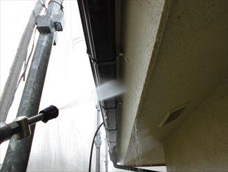 富里市外壁塗装、屋根塗装工事洗浄作業002