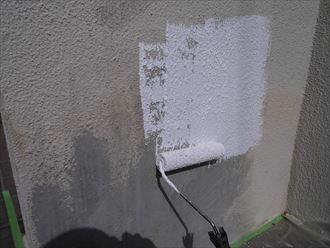 富里市屋根外壁塗装工事、擁壁塗装004