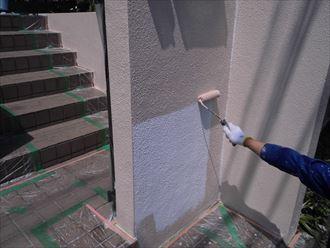 富里市屋根外壁塗装工事、擁壁塗装005