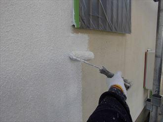 富里市屋根外壁塗装、塗装下塗り004