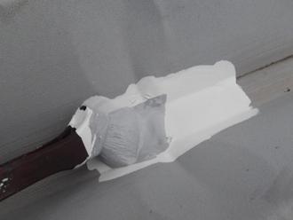 千葉県木更津市 屋根の雨漏り補修 錆止めタッチアップ