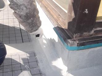 千葉県木更津市 ウレタン防水工事 立ち上がり部の処理
