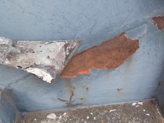 千葉県木更津市 階段の屋根補修 ケレン